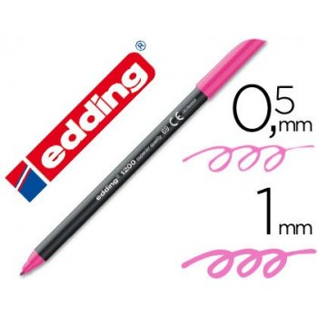 Rotulador edding punta fibra 1200 rosa neon n.69 punta de fibra 0,5 mm