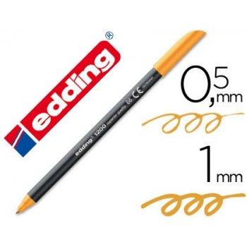 Rotulador edding punta fibra 1200 naranja neon n.66 punta de fibra 0,5 mm