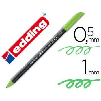 Rotulador edding punta fibra 1200 verde neon n.64 punta de fibra 0,5 mm