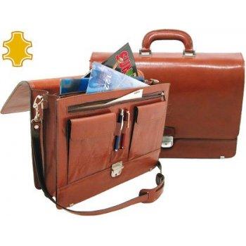 Cartera portafolios artesania de piel con broche medidas 40,3x30x10,5 cm.