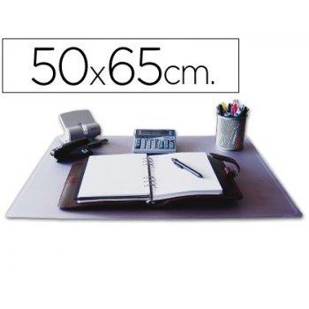 Vade sobremesa q-connect transparente -50x65 cm