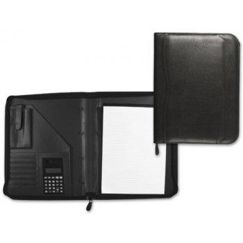 Carpeta portafolios 80-848 negra 260x355 mm cremallera sin anillas calculadora con bolsa para movil