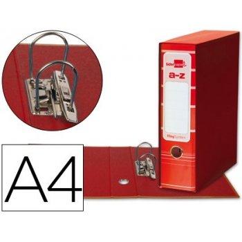 Archivador de palanca liderpapel a4 filing system forrado sin rado lomo 80mm rojocon caja y compresor metalico