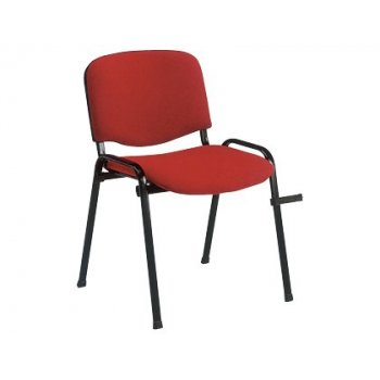 Silla apilable q-connect brazos cortos tapizada sin rueds 910 mm alto 490 mm largo440 mm profundidad roja