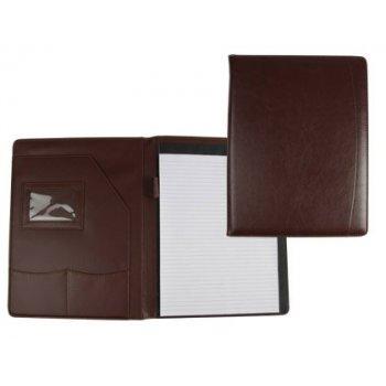 Carpeta portafolios 45-728k marron 320x250 mm sin cremallera sin asa -con departmentos interiores