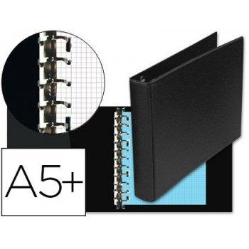 Carpeta multifin alfa 3002-m 11 anillas 25 mm plastico cuarto negro