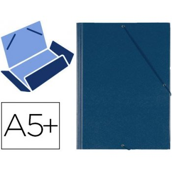Carpeta gomas solapas plastico saro cuarto azul