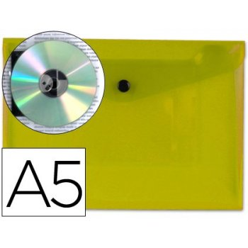 Carpeta liderpapel dossier broche 34351 polipropileno din a5 amarillo transparente