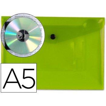 Carpeta liderpapel dossier broche 34353 polipropileno din a5 verde transparente