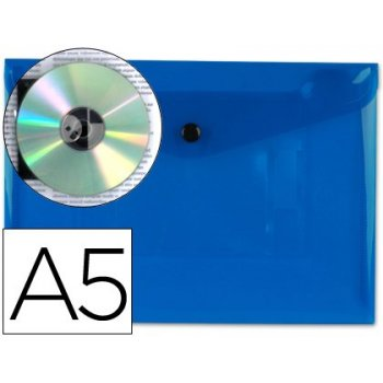 Carpeta liderpapel dossier broche 34352 polipropileno din a5 azul transparente