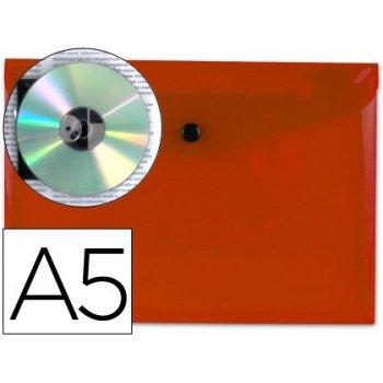 Carpeta liderpapel dossier broche 34350 polipropileno din a5 roja transparente