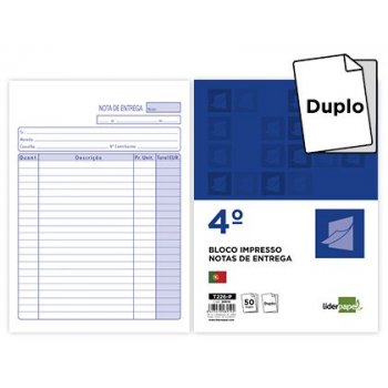Talonario liderpapel entregas cuarto 226 duplicado -texto en portugues