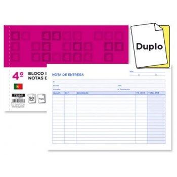 Talonario liderpapel entregas cuarto apaisado 229 duplicado -texto en portugues