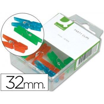 Pinza fantasia q-connect -32 mm -caja de 10 unidades -colores surtidos