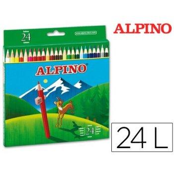 Lapices de colores alpino 658 c  de 24 colores largos