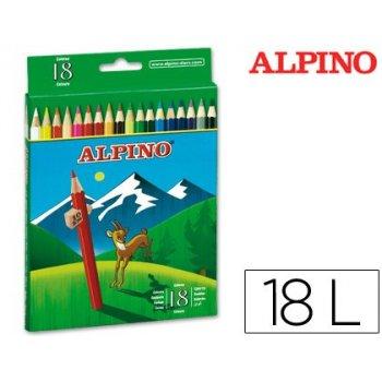 Lapices de colores alpino 656 c  de 18 colores largos