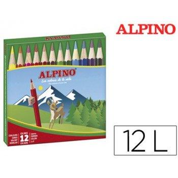 Lapices de colores alpino 652 c  de 12 colores cortos