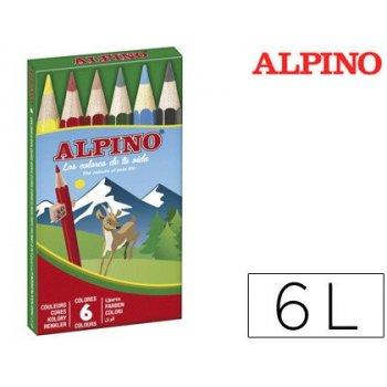 Lapices de colores alpino 651 c de 6 colores cortos