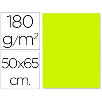 Cartulina liderpapel 50x65 cm verde pistacho 180 gr -unidad