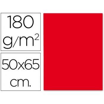Cartulina liderpapel 50x65 cm 180g m2 rojo