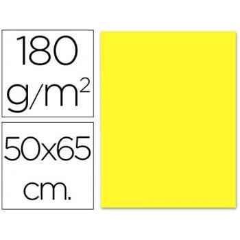 Cartulina liderpapel 50x65 cm 180g m2 amarillo