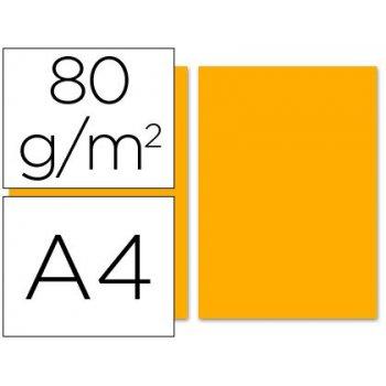 Papel color liderpapel a4 80g m2 naranja paquete de 100