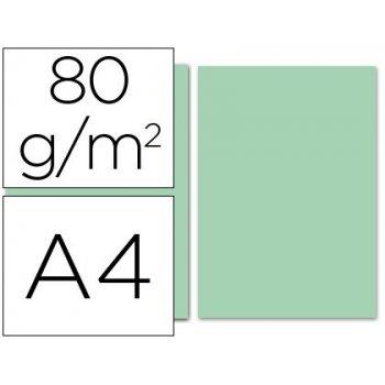 Papel color liderpapel a4 80g m2 verde paquete de 100