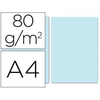 Papel color liderpapel a4 80g m2 celeste paquete de 100