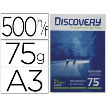 Papel fotocopiadora discovery din a3 75 grs. papel multiuso ink-jet y laser-paquete de 500 hojas