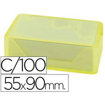 Tarjetas de visitas liderpapel 90x55mm blanca 250g m2 caja de 100