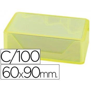 Tarjetas de visitas liderpapel 90x60mm blanca 250g m2 caja de 100