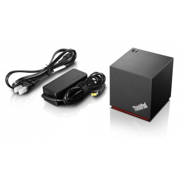 Lenovo 40A60045EU base para portátil y replicador de puertos Alámbrico WiGig Negro