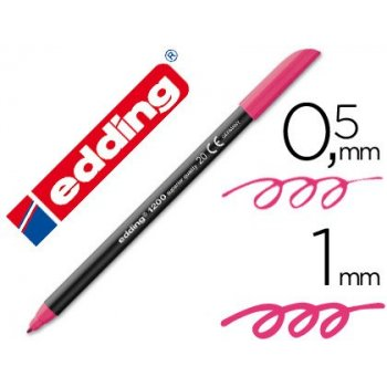 Rotulador edding punta fibra 1200 magenta n.20 -punta redonda 0.5 mm