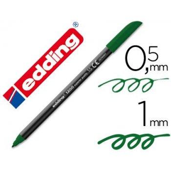 Rotulador edding punta fibra 1200 verde oliva n.15 -punta redonda 0.5 mm