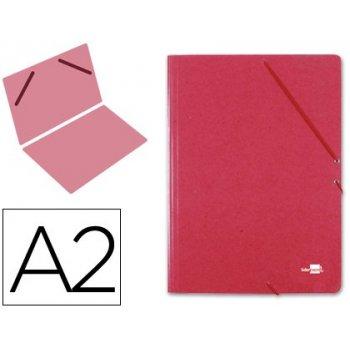 Carpeta planos liderpapel a2 carton gofrado n 12 rojo