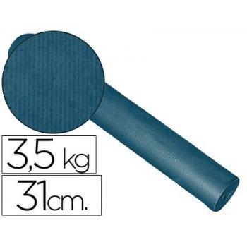 Papel fantasia kraft liso kfc -bobina 31 cm -3,5 kg -color cobalto