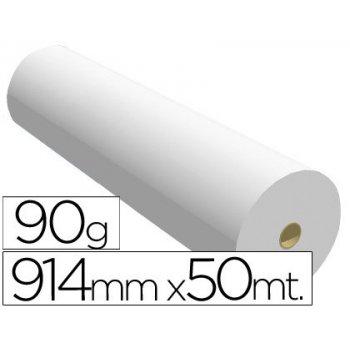 Papel reprografia para plotter 914mmx50mt 90gr impresion ink-jet