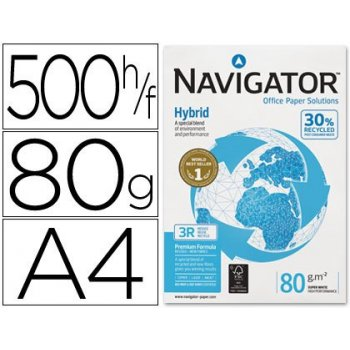 Papel fotocopiadora navigator hybrid premium din a4 80 gramos paquete de 500 hojas