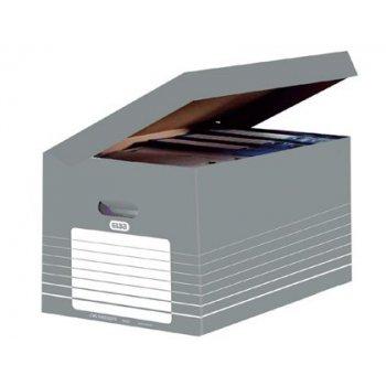 Cajon elba carton color gris para 5 cajas archivo definitivo