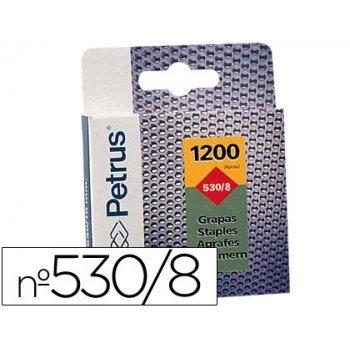 Grapas petrus nº 530 8 -caja de 1200 grapas