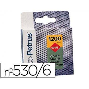 Grapas petrus nº 530 6 -caja de 1200 grapas