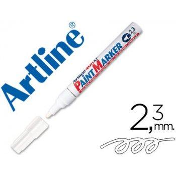 Rotulador artline marcador permanente ek-400 xf blanco -punta redonda 2.3 mm -metal caucho y plastico