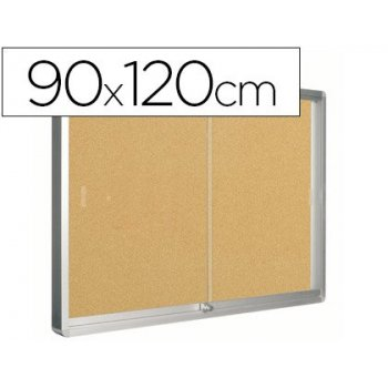 Vitrina de anuncios q-connect marco de aluminio 900 x 1200 mm