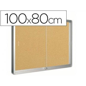 Vitrina de anuncios q-connect marco de aluminio 800 x 1000mm