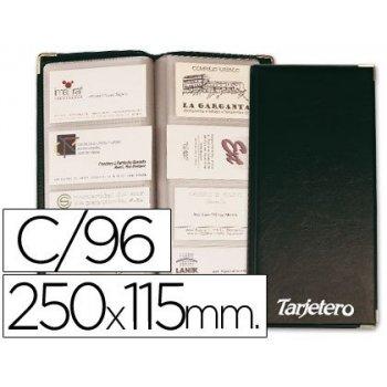 Tarjetero para tarjetas visita color negro para 96 unidades tamaño 250 x 115 mm