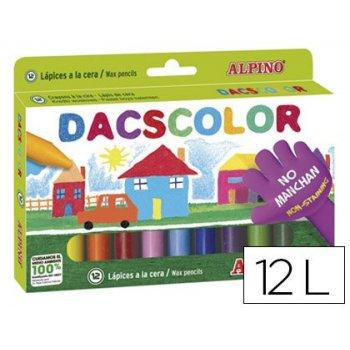 Lapices cera dacscolor caja de 12 colores