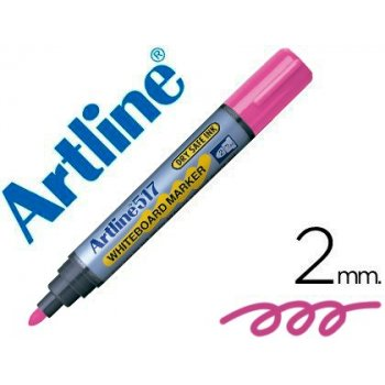 Rotulador artline pizarra ek-517 rosa -punta redonda 2 mm -tinta de bajo olor
