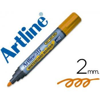 Rotulador artline pizarra ek-517 naranja -punta redonda 2 mm -tinta de bajo olor