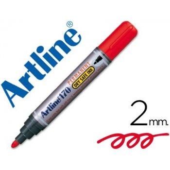 Rotulador artline marcador permanente 170 rojo -punta redonda 2 mm -antisecado