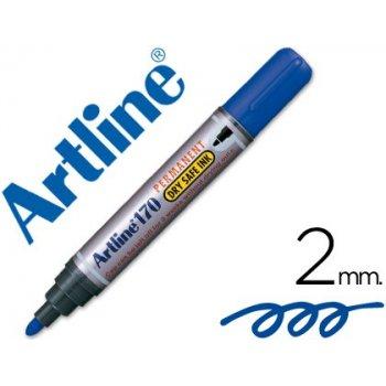 Rotulador artline marcador permanente 170 azul -punta redonda 2mm -antisecado